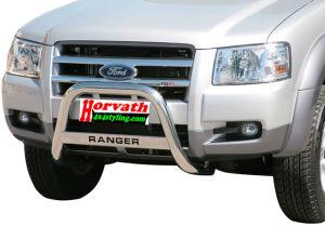 """Rammschutz Edelstahl Typ """"U63"""" Dm= 63mm, Ford Ranger (nicht für Wildtrak) 4WD 07-11 Pickup,wahlweise mit Schriftzug"""